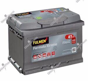 Batterie Fulmen D21 FA612 12v 60ah 600A 242x175x175mm pour renault