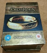 LORD OF THE RINGS TRILOGY 15 DISCS EXTENDED EDITION BLU RAY Brand New UK Release