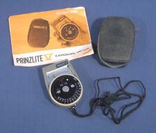 Vintage PrinzLite V Exposure Meter in Case with Instructions