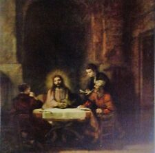 Christ At Emmaus(MINI PRINT) by Van Rijn Rembrandt