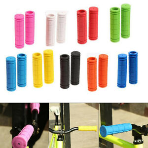 1 Pair Bike Grips Mountain Bicycle Bike Handle Handlebar Soft Rubber Bar End