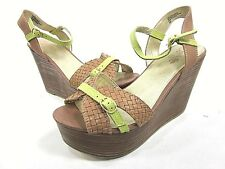 SEYCHELLES IT DON'T MEAN A THING WEDGE SANDAL WOMEN'S TAN US SIZE 10 NEW/DISPLAY