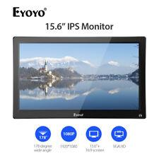 "Eyoyo 15.6"" IPS HDMI Monitor With HDMI VGA USB AV BNC VESA 75 Wall Mount for PC"