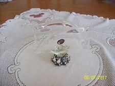 Murano White Crystal Elegant Napkin Holder Fruit Base Made In Italy