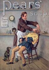 VINTAGE  PEARS SOAP The Barber Shop QUALITY CANVAS ART PRINT