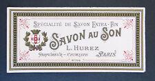 Etiquette savon parfumeur HUREZ n°703 Antique Perfume Soap Label French Paris