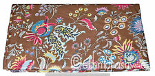 Cotton Brown Paisley Indian Hand Block Print Sewing Material Craft By The Yard32