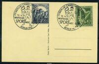 BERLIN 1951 Nr 72-73 auf SST Beleg (88092)