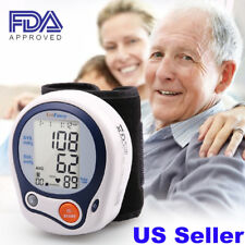Auto Digital Wrist Blood Pressure Monitor BP Cuff Gauge Machine Sensor Tester