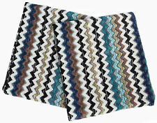 MISSONI HOME TWO BATH TOWELS MASTER MODERNO COLLECTION VELOUR COTTON PAUL 170