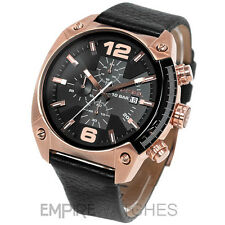 **NEW** DIESEL MENS OVERFLOW CHRONOGRAPH ROSE GOLD WATCH - DZ4297 - RRP £225