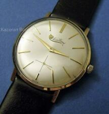Vintage Mans Working Watch Lucien Piccard 14ct Gold Plated Wristwatch Working