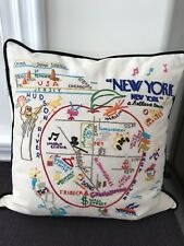 catstudio NEW YORK BIG APPLE Embroidered Pillow