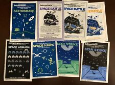 Intellivision Manuals for Space Network Games From Mattel Electronics