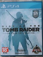 PS4 Rise of the Tomb Raider 20 Year Celebration Chinese Version 1-3day Shipping