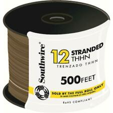 Southwire Electrical Wire Single Conductor 500 ft. 12 Brown Stranded CU THHN