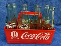 COKE COCA COLA PLASTIC CARRIER W/ 6-1/2 oz BOTTLES 8 Pack VINTAGE