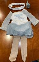 American Girl Doll Clothes Mia's Silver Skate Dress W/ Box AGO92