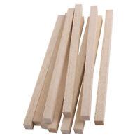 10x Holzstäbchen geglättet 10x10 / 8x8mm Balsaholz Modellierstange Kids Hobby