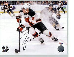 Taylor Hall Signed New Jersey Devils 8x10 Photo PSA COA LST503