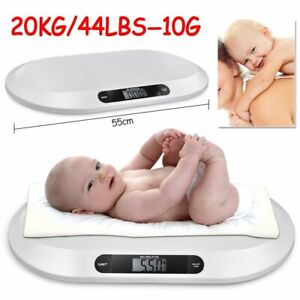 Digital Baby Scale Infant Weighing Scales 20KG Body Pet Dog Puppies Kittens New