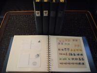 Bund 1955 - 1999 ** + gest. Sammlung in 5 Lindner Vordruckalben