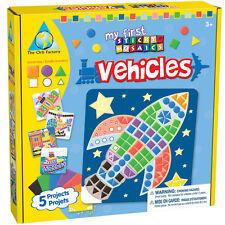 Mosaic Bastelset Set de Bricolage Images Mosaïque Fusée Bateau Train Enfants