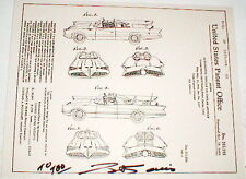1960's George Barris Signed repo of my Original Batmobiles Blue Print  very cool