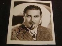 Autographed Photograph JON HALL Hollywood Actor, Original Hand Signed Signature
