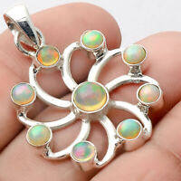 Natural Ethiopian Opal 925 Sterling Silver Pendant Jewelry SDP53482
