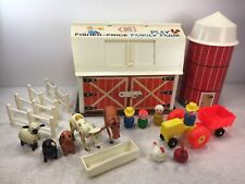 Fisher Price 915 Farm FP 1979-81 Green Base Masonite People Door Moos Read