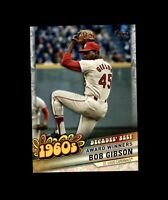 2020 Topps Update BOB GIBSON Decades' Best Insert Cardinals #DB-17