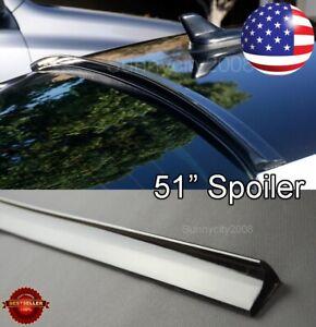 """51"""" Semi Gloss Black Window Diffuser Roof Trunk Spoiler Lip For  VW Porsche"""