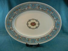 "Wedgwood Florentine Turquoise Fruit Center W2714 Oval 15 1/4"" Serving Platter"