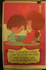 Childrens' Prayer Vintage Poster