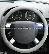 FORD FAUX LEATHER GREY/BLACK STEERING WHEEL COVER