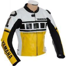 Blousons jaune tout en cuir pour motocyclette