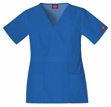 Dickie's Eds Plus Size Empire Waist Scrub Top Royal Blue 2Xl Nwt