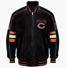 Chicago Bears SUEDE  NFL LEATHER VARSITY COLOR BLOCKED JACKET NWT