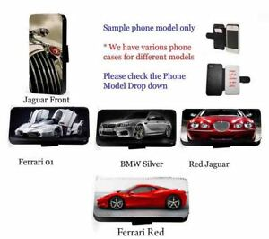 Supercar phone case  race car leather wallet phone cover Huawei Samsung