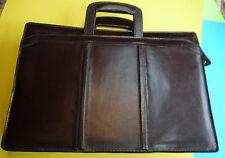 Vintage Leather Attache Briefcase Portfolio Case Document  Storage Holder EUC