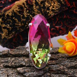 Marvelous Multi Tourmaline Gemstone 925 Sterling Silver Handmade Ring All Size