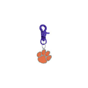 Clemson Tigers Pet Tag Collar Charm COLOR EDITION College Dog Cat