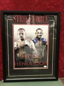 FEDOR vs HENDERSON AUTOGRAPHED PHOTO 11x14 STRIKEFORCE FRAMED AUTHENTICATED JSA