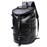 UK Mens Leather School Backpack Handbag 2019 Large Travel Duffle Gym Luggage Bag