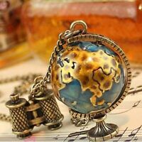 Vintage Charms Globe Telescope Tellurion Pendant Sweater Long Chain Necklace hot