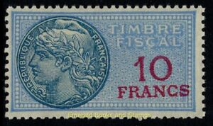 EBS France 1936-1958 - Fiscal - 10 Francs - Timbre fiscale - YT TF 142 MNH**
