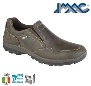 Men/'s Imac Brown Leather Lace Fastening Low Heel Boots UK 8-11 EU 42-45