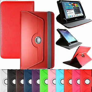 """Universal Leather Stand 360° Folding Folio Case Cover Pouch For All 7"""" 8""""Tablets"""