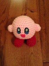 Kirby Handmade Custom Made Knitted Figure Doll New NIntendo Rare
